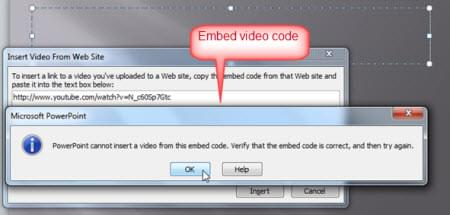 Embed video code