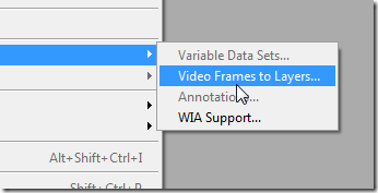 Import video to photoshop