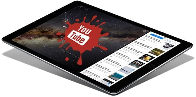 YouTube to iPad logo