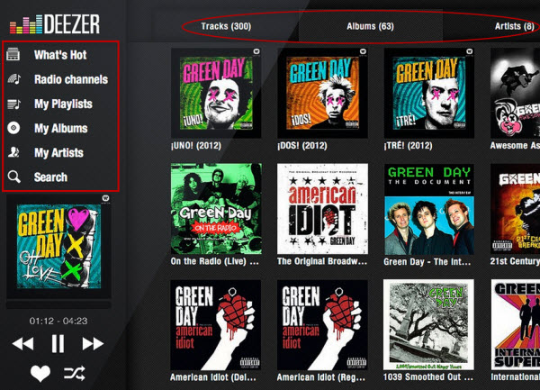deezer interface