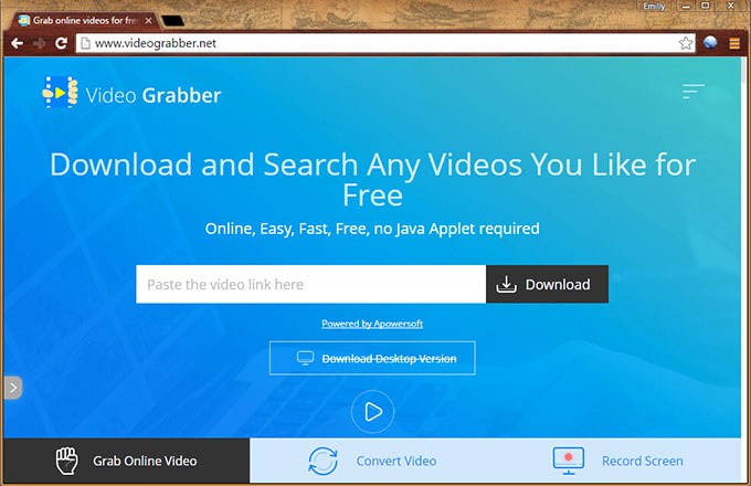 video grabber interface