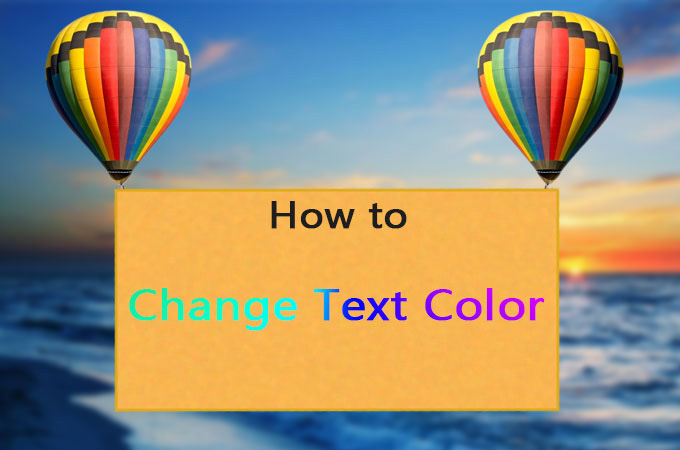 change text color