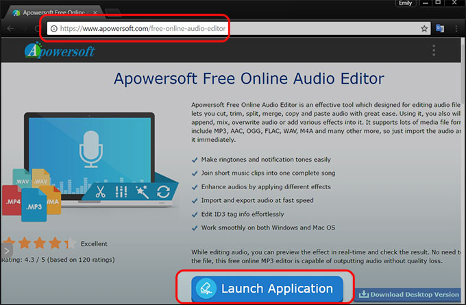 Apowersoft audio editor