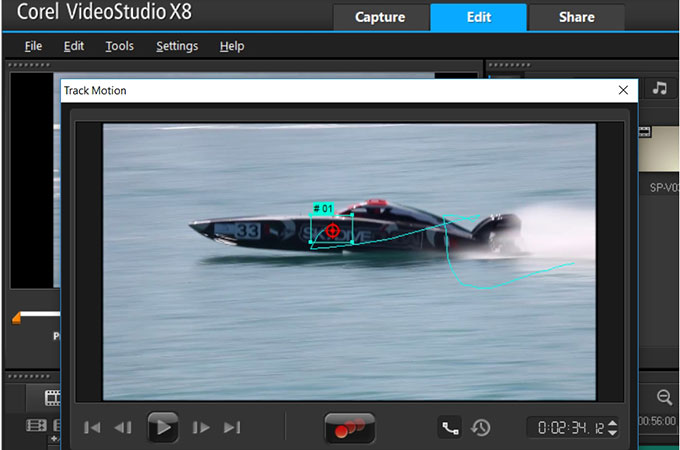 videostudio track motion