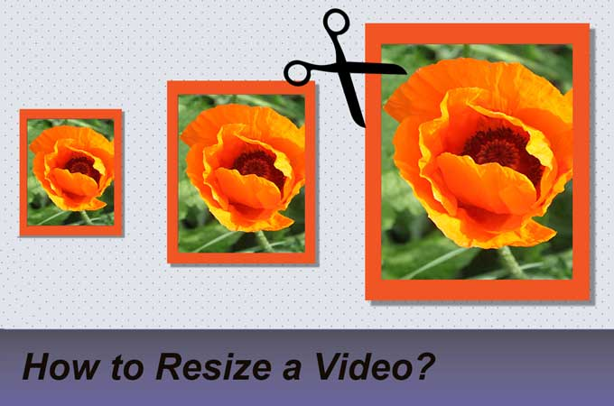 how to resize a video