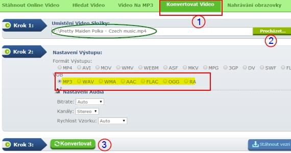 převést video do MP3