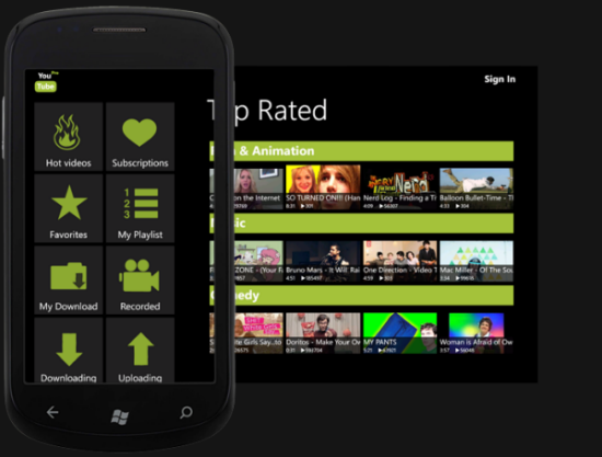 YouTube downloader per Windows Phone