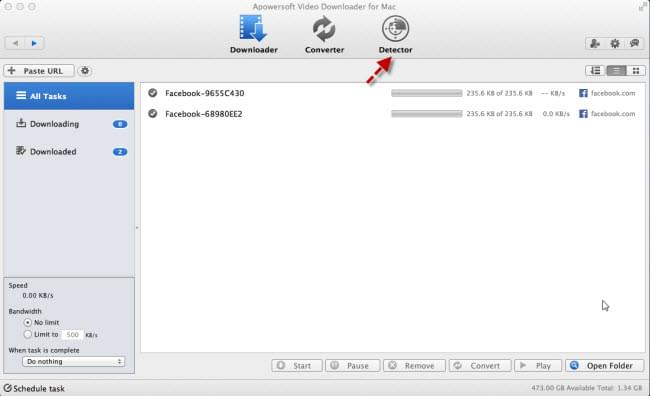 Download discovery on Mac