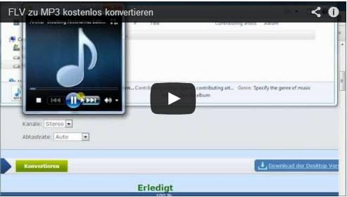 FLV in MP3 konvertieren
