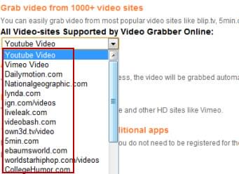 videograbber supported sites