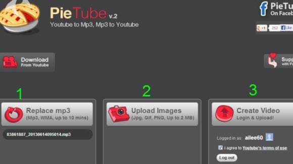 pietube interface