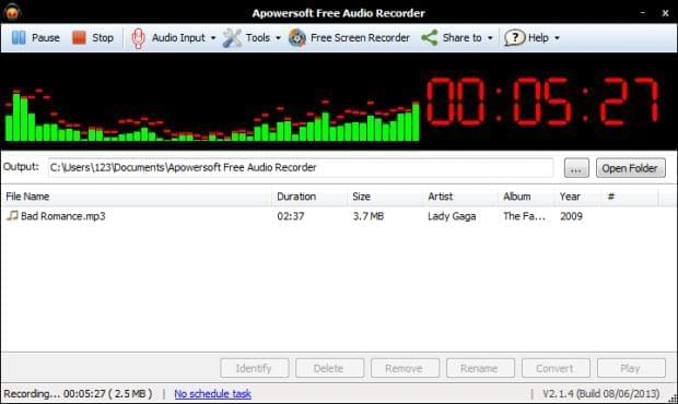 Record audio free