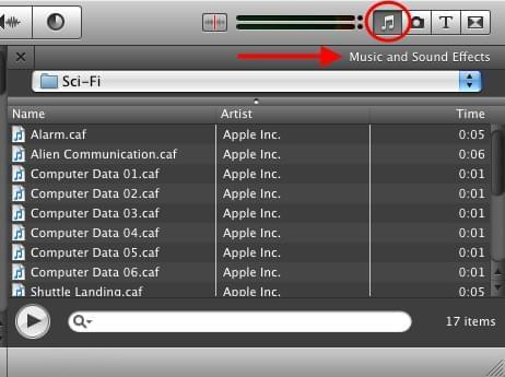 iMovie audio