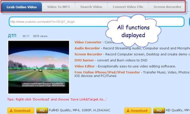 Video Grabber function