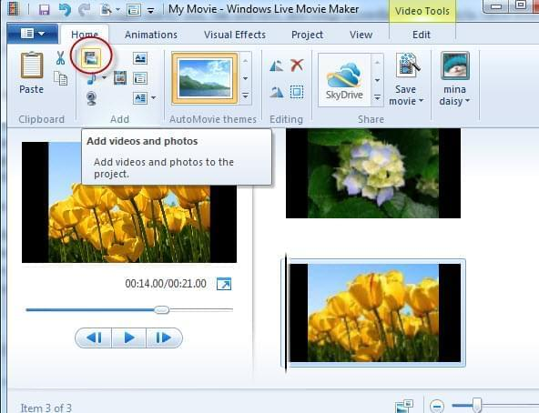 Add logo with windows movie maker