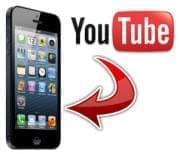 YouTube to iPhone logo