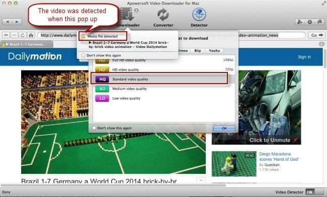 Dailymotion auto detect