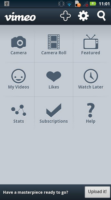Vimeo for android app