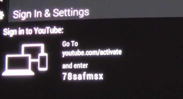 activate YouTube account on Roku