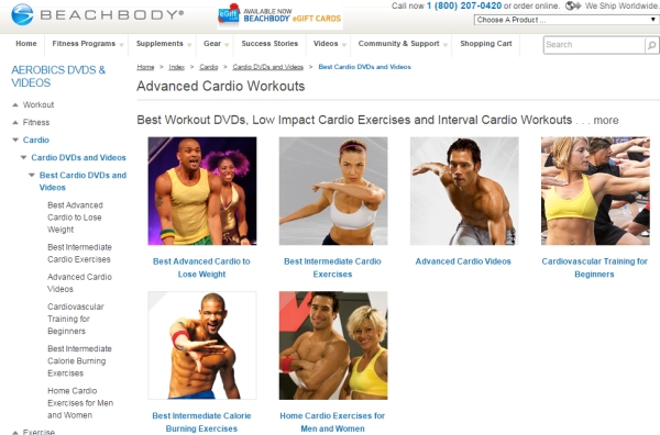 other aerobics video sites