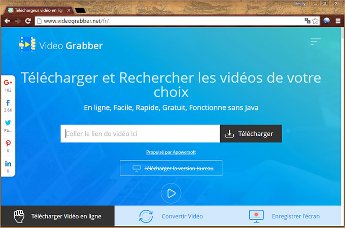 Videograbber interface