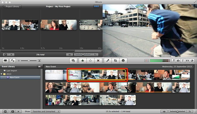 increase sound volume iMovie