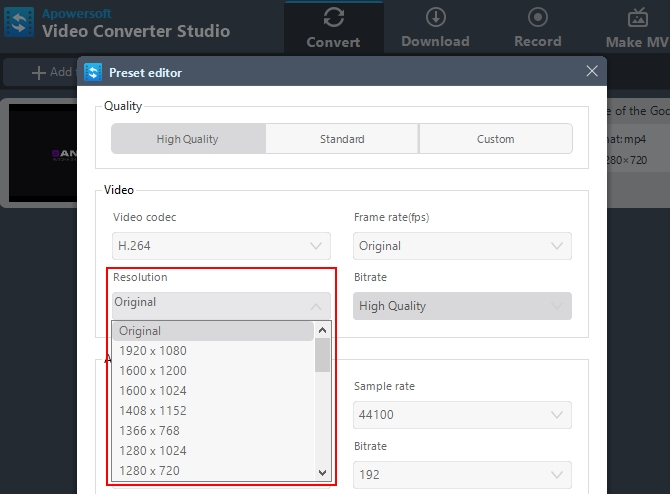 Video Resolution Converter