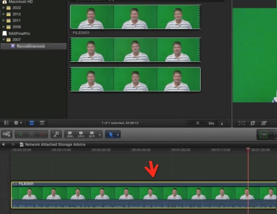 Final Cut Pro green screen