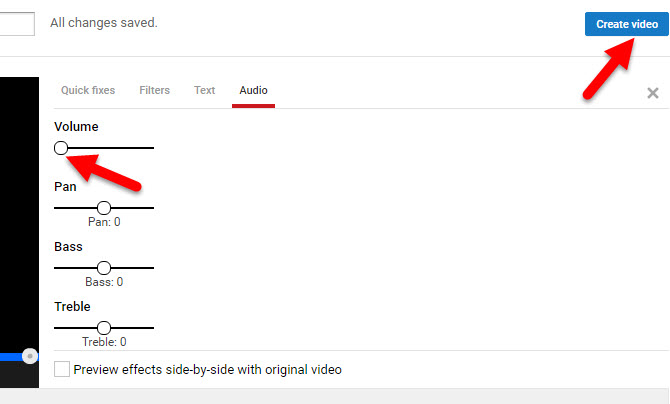 Mute sound in video with YouTube