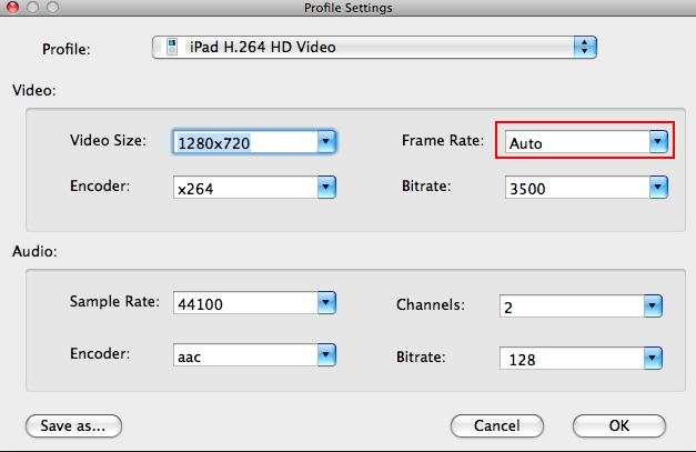change frame rate of video
