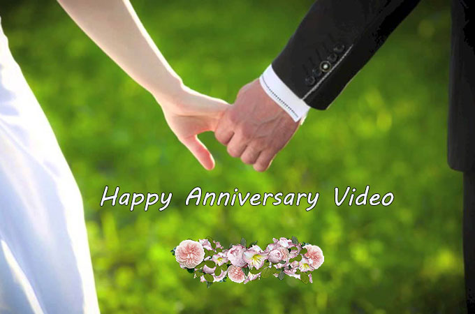 happy anniversary video maker