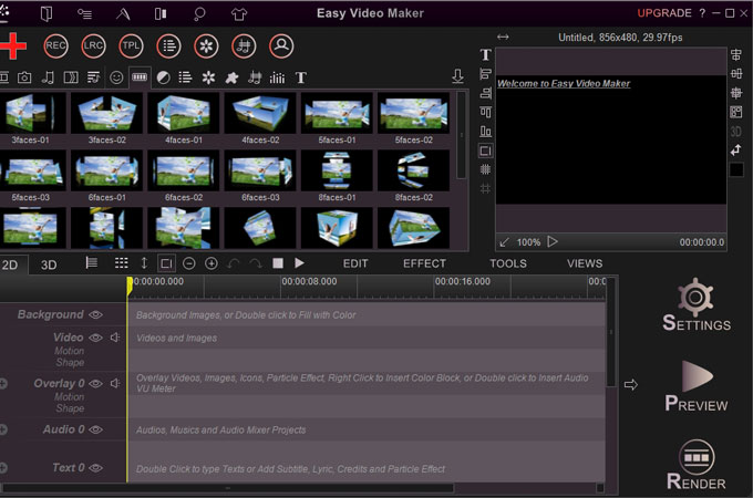 edit dji video with easy video maker
