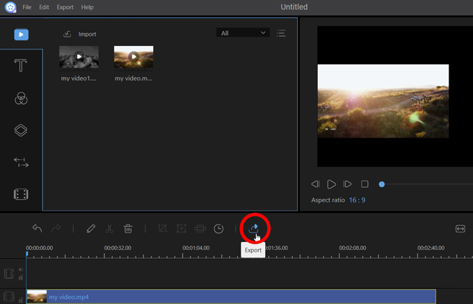 export the first video