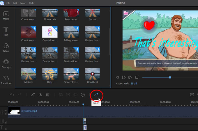 export the obs video