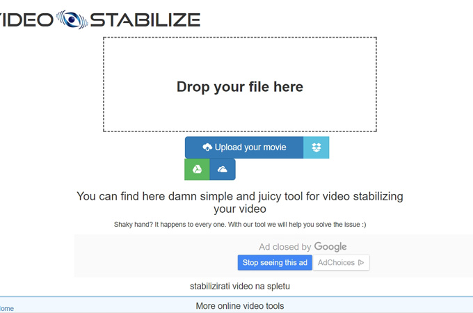 stabilize videos with video stabilize